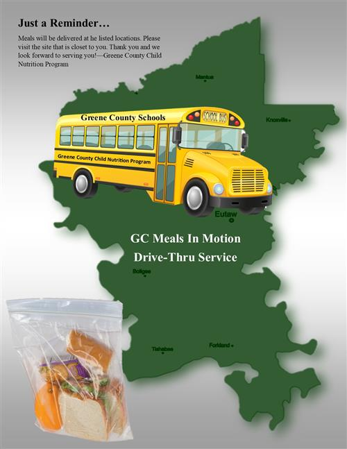 GC Meals in Motion Drive Thru Schedule